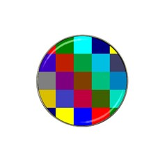 Chessboard Multicolored Hat Clip Ball Marker (10 pack)