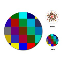 Chessboard Multicolored Playing Cards (Round)