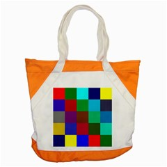 Chessboard Multicolored Accent Tote Bag