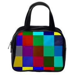 Chessboard Multicolored Classic Handbags (One Side)