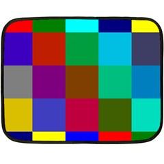 Chessboard Multicolored Double Sided Fleece Blanket (Mini)