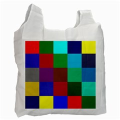 Chessboard Multicolored Recycle Bag (One Side)