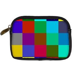 Chessboard Multicolored Digital Camera Cases
