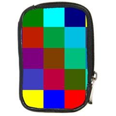 Chessboard Multicolored Compact Camera Cases