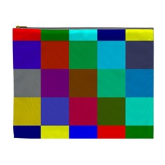 Chessboard Multicolored Cosmetic Bag (XL)