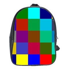 Chessboard Multicolored School Bags(large)