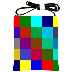 Chessboard Multicolored Shoulder Sling Bags