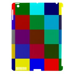 Chessboard Multicolored Apple iPad 3/4 Hardshell Case (Compatible with Smart Cover)