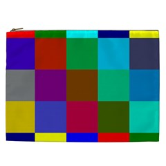 Chessboard Multicolored Cosmetic Bag (XXL)