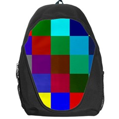 Chessboard Multicolored Backpack Bag