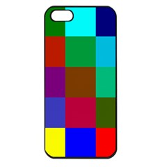 Chessboard Multicolored Apple iPhone 5 Seamless Case (Black)