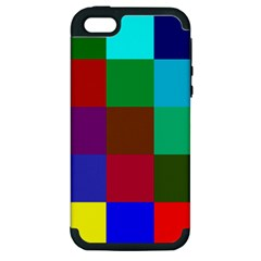 Chessboard Multicolored Apple iPhone 5 Hardshell Case (PC+Silicone)