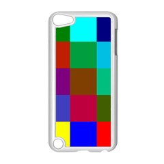 Chessboard Multicolored Apple iPod Touch 5 Case (White)