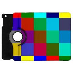 Chessboard Multicolored Apple iPad Mini Flip 360 Case