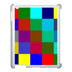 Chessboard Multicolored Apple iPad 3/4 Case (White)