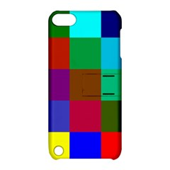 Chessboard Multicolored Apple iPod Touch 5 Hardshell Case with Stand