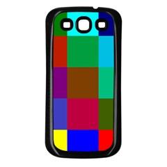 Chessboard Multicolored Samsung Galaxy S3 Back Case (Black)