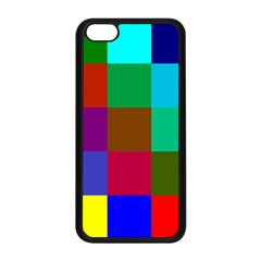 Chessboard Multicolored Apple iPhone 5C Seamless Case (Black)
