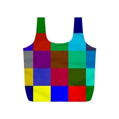 Chessboard Multicolored Full Print Recycle Bags (S)
