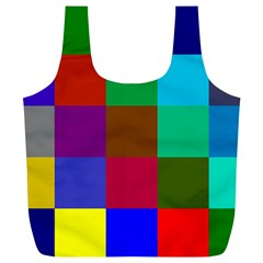 Chessboard Multicolored Full Print Recycle Bags (L)
