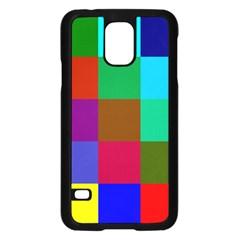 Chessboard Multicolored Samsung Galaxy S5 Case (Black)