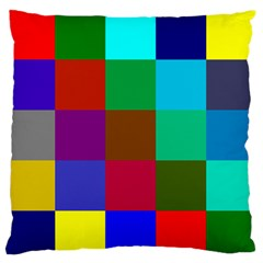 Chessboard Multicolored Standard Flano Cushion Case (Two Sides)