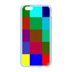 Chessboard Multicolored Apple Seamless iPhone 6/6S Case (Color)