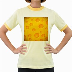 Cheese Women s Fitted Ringer T Shirts