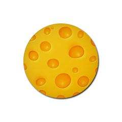 Cheese Rubber Round Coaster (4 pack)