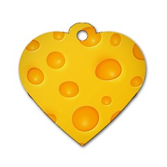 Cheese Dog Tag Heart (Two Sides)