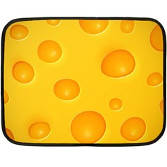 Cheese Double Sided Fleece Blanket (mini)