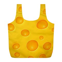 Cheese Full Print Recycle Bags (L)