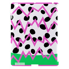 Wave Chevron Circle Purple Green White Black Apple iPad 3/4 Hardshell Case (Compatible with Smart Cover)