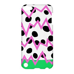 Wave Chevron Circle Purple Green White Black Apple iPod Touch 5 Hardshell Case