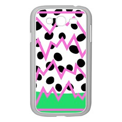 Wave Chevron Circle Purple Green White Black Samsung Galaxy Grand DUOS I9082 Case (White)
