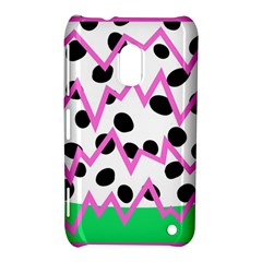 Wave Chevron Circle Purple Green White Black Nokia Lumia 620
