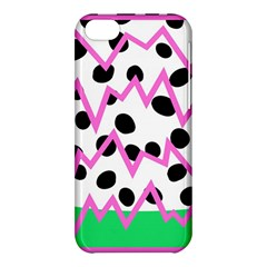 Wave Chevron Circle Purple Green White Black Apple iPhone 5C Hardshell Case