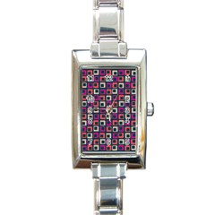 Abstract Squares Rectangle Italian Charm Watch
