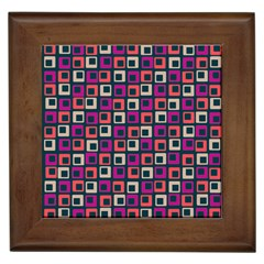 Abstract Squares Framed Tiles