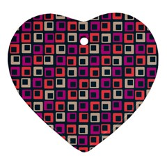 Abstract Squares Ornament (Heart)