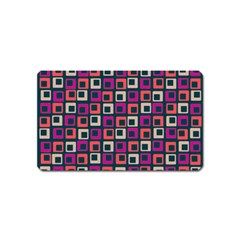 Abstract Squares Magnet (Name Card)