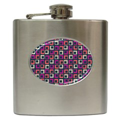 Abstract Squares Hip Flask (6 oz)
