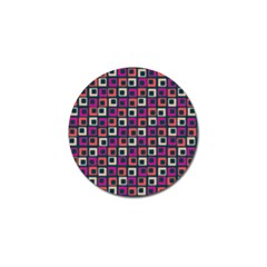 Abstract Squares Golf Ball Marker