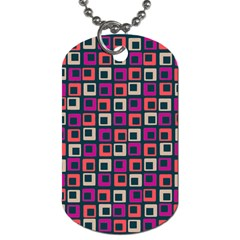 Abstract Squares Dog Tag (Two Sides)