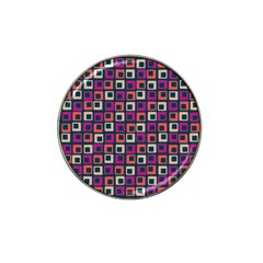Abstract Squares Hat Clip Ball Marker (10 pack)