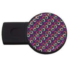 Abstract Squares USB Flash Drive Round (4 GB)