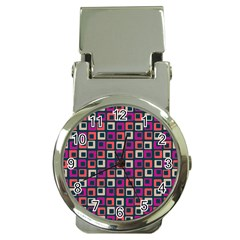 Abstract Squares Money Clip Watches
