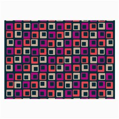 Abstract Squares Large Glasses Cloth