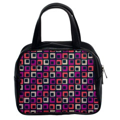 Abstract Squares Classic Handbags (2 Sides)