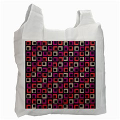 Abstract Squares Recycle Bag (One Side)